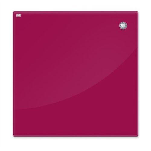 Tablica szklana 2x3 magnet. 45x45cm - czerwona, TSZ4545 R