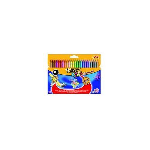 Kredki BIC świecowe Plastidecor pudełko 24 kolory