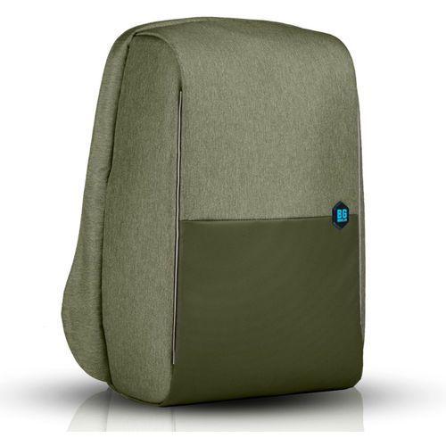 """Bg berlin metrobag plecak na laptopa 17"""" / antykradzieżowy / zielony - burnt olive (6906053058620)"""