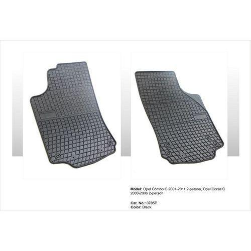 Dywaniki gumowe czarne z kompletem stoperów - opel corsa (c) 2000-2006, 2 siedzenia marki Frogum