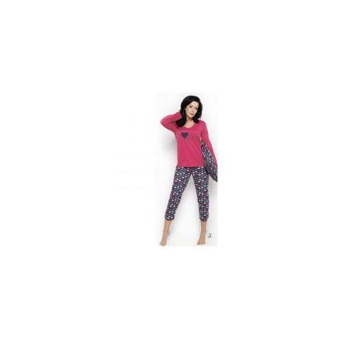 Piżama damska TARO Felicja 2227 malinowa, kolor różowy