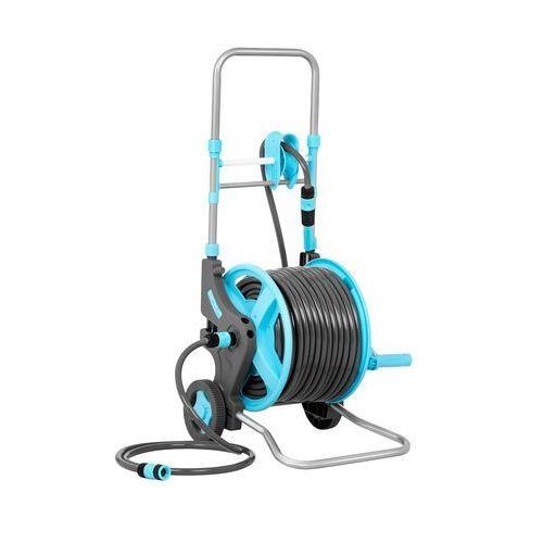 wąż ogrodowy na bębnie - wózek - 45 m + 2 m ht-louis 45 - 3 lata gwarancji marki Hillvert