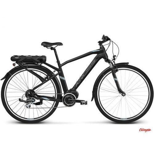 Rower elektryczny Kross Trans Hybrid 2.0 czarny/niebieski/srebrny mat 2018