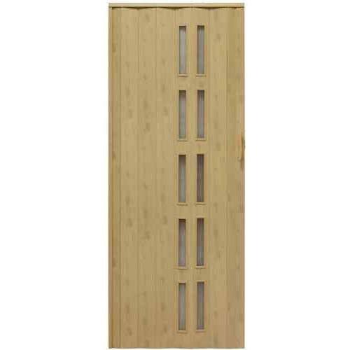 Drzwi harmonijkowe 005s 48 g wiąz mat g 80 cm marki Gockowiak