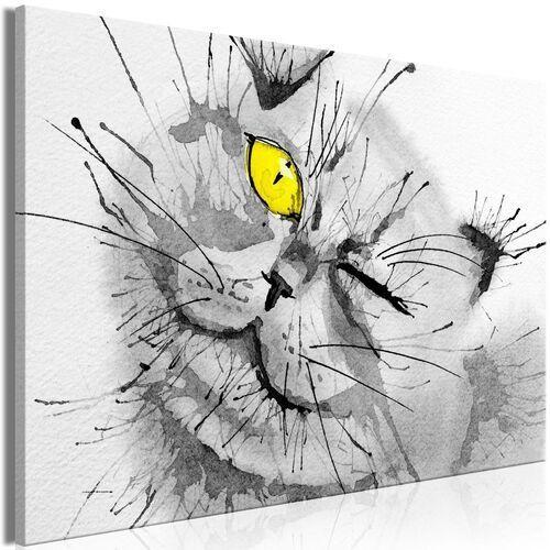 Obraz - radosne spojrzenie (1-częściowy) szeroki żółty marki Artgeist