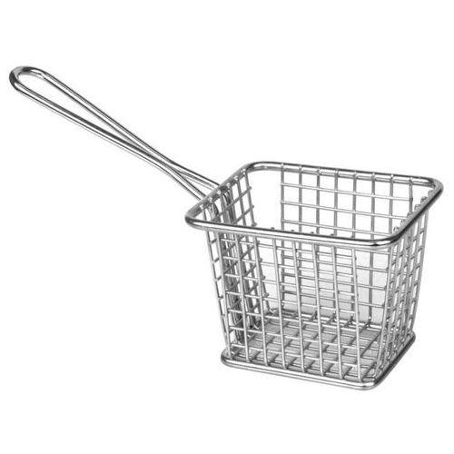 Koszyk do frytek kwadratowy z rączką | 80 x 100 x 80 mm