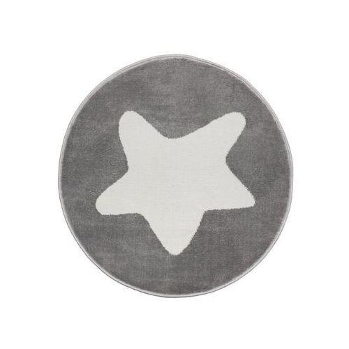 Dywan gwiazdka szary śr. 80 cm wys. runa 7 mm marki Agnella