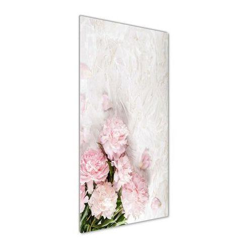 Foto obraz akryl do salonu Piwonie marmur
