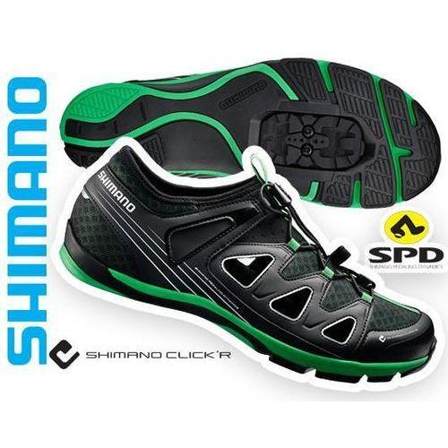 Eshct46g480lg buty, sandały rowerowe spd click'r sh-ct46 czarno/zielone, roz.48 marki Shimano