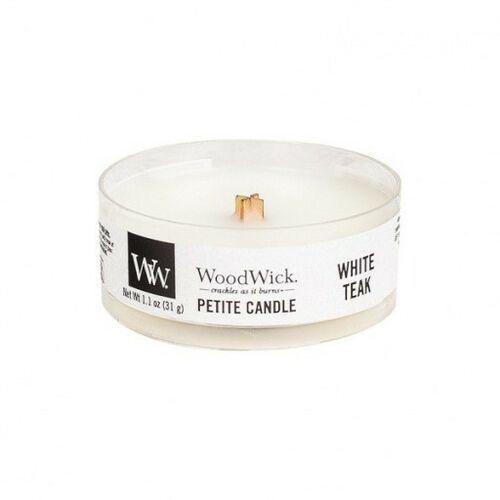 Woodwick świeca petite white teak 31g (5038581062167)