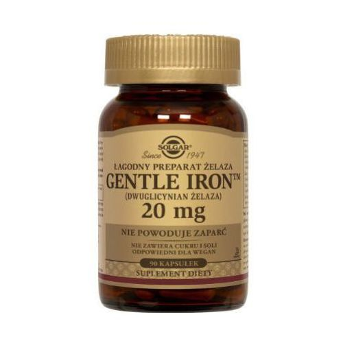 Gentle Iron - łagodny preparat żelaza 20 mg 90 kaps.