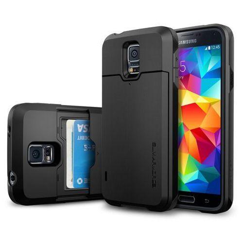 Etui SPIGEN SGP10982 do Galaxy S5 Czarny, kolor czarny