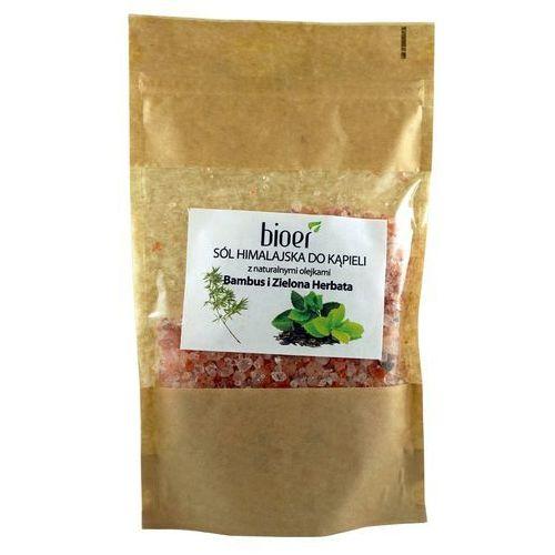 Sól himalajska z olejkami bambus i zielona herbata - 450g -  marki Bioer