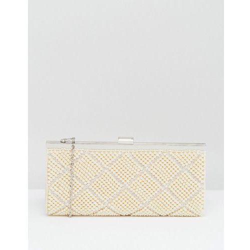 pearl clutch bag - cream marki Claudia canova