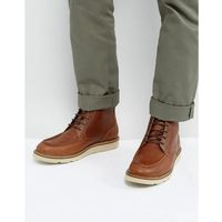 lace up boots in brown leather - black, Dead vintage