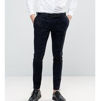 Noak super skinny suit trousers with flocking - navy