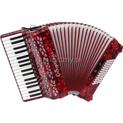 OKAZJA - 737 kk 34/3/5 72/4/2 akordeon (czerwony) marki E.soprani