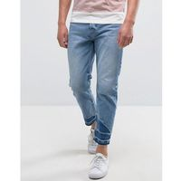 jeans with raw hem in relaxed fit - blue marki Kiomi