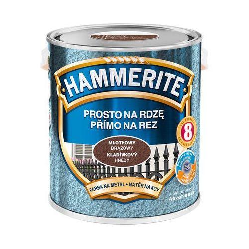 Farba Prosto Na Rdzę - Efekt Młotkowy Brązowy 2,5L Hammerite (5011867039954)