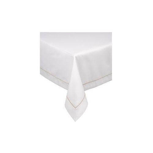 Obrus 140x300 z beżową pasmanterią marki Black red white