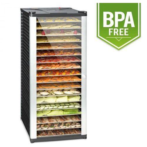 Klarstein fruit jerky 18 automat do suszenia 1000w 18 segmentów ze stali czarny (4260486157124)