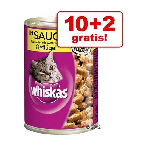 Whiskas 10 + 2 gratis! puszki, 12 x 400 g - pasztet z tuńczyka (4008429067891)