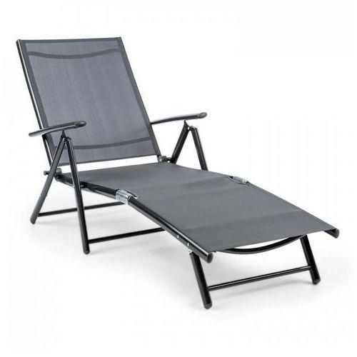 modena leżak 64x85x170cm aluminium/stalowy stelaż szary marki Blumfeldt