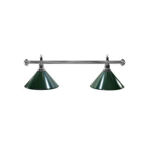 Lampa bilardowa elegance 2 klosze zielona, srebrny pałąk - zielony ||srebrny marki Tournament champion