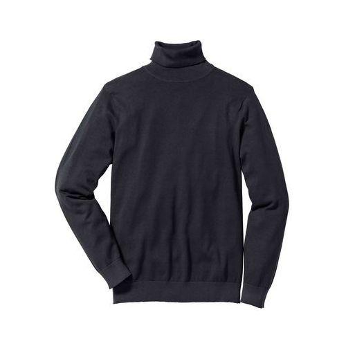 Sweter z golfem regular fit czarny marki Bonprix