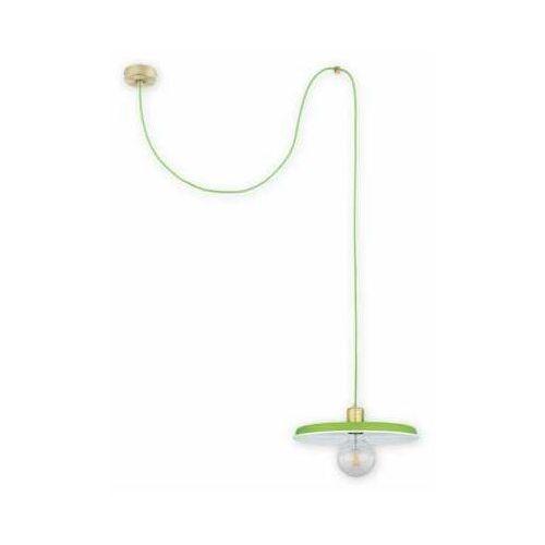 Lemir zts o2831 w1 pat + zie [m] lampa wisząca zwis 1x60w e27 patyna+zielony