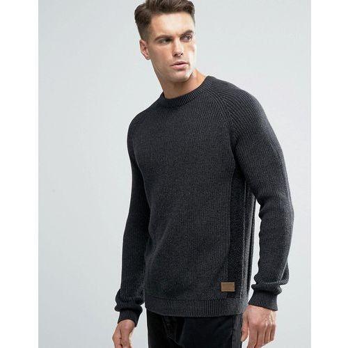 Threadbare crew neck cable knit jumper - grey