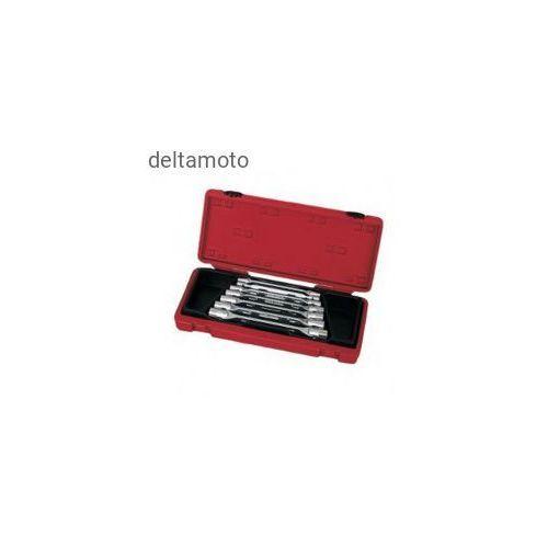 Zestaw kluczy płasko-oczkowych 8 sztuk, odchylenie 75 stopni, 910012B