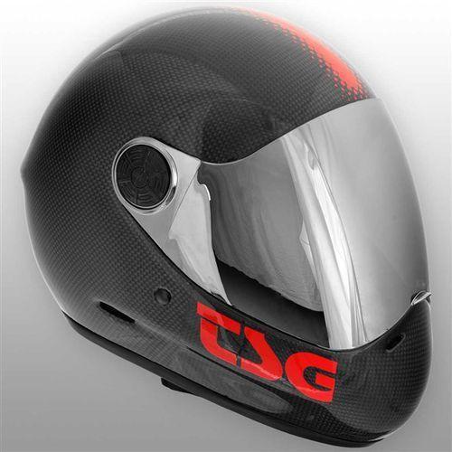 kask TSG - Pass Carbon Solid Color Carbon Black (183) rozmiar: L
