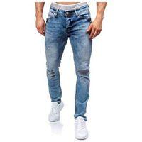 Niebieskie spodnie jeansowe męskie Denley 311, kolor niebieski