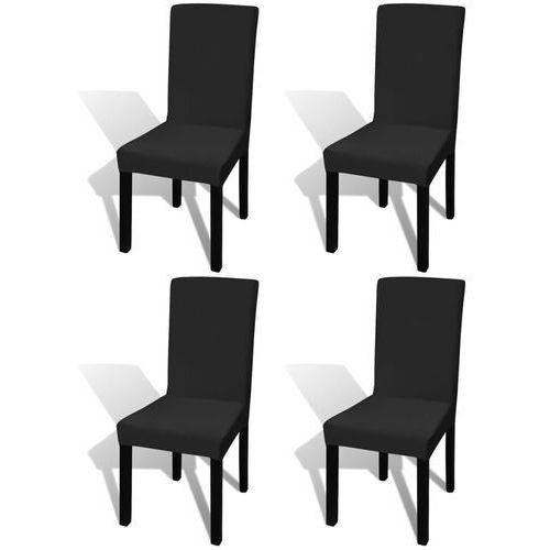 elastyczne pokrowce na krzesła, 4 szt., czarne marki Vidaxl