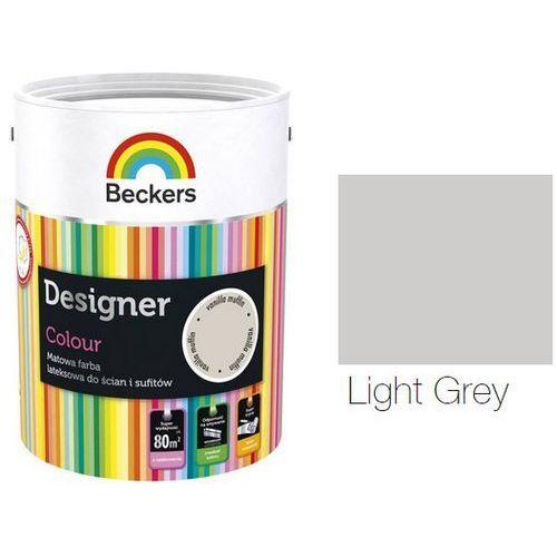 designer colour- farba lateksowa, light grey, 2.5 l marki Beckers