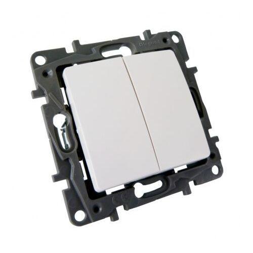 Legrand Niloe przycisk podwójny 2p przełączny biały no/nc 6a 664508
