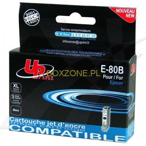 UPrint kompatybilny ink z C13T08014011, black, 11ml, E-80B, dla Epson R265, RX560, R360 (3584770881092)