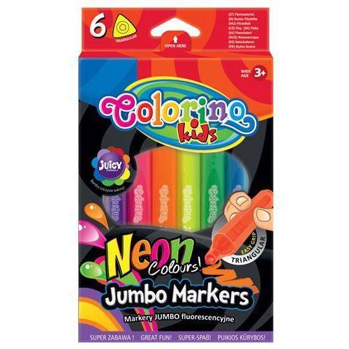 Markery Jumbo fluorescencyjne Colorino Kids 6 kolorów (5907690838881)