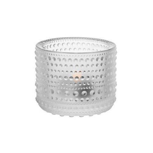 Kastehelmi świecznik na tealight, szkło mrożone - marki Iittala