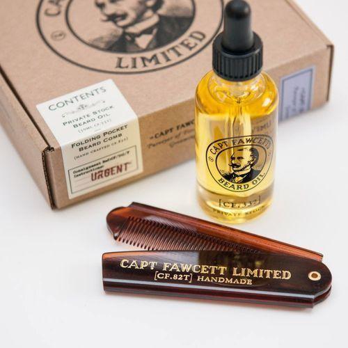 Zestaw captain fawcett's - olejek i grzebień do brody marki Captain fawcett, wielka brytania