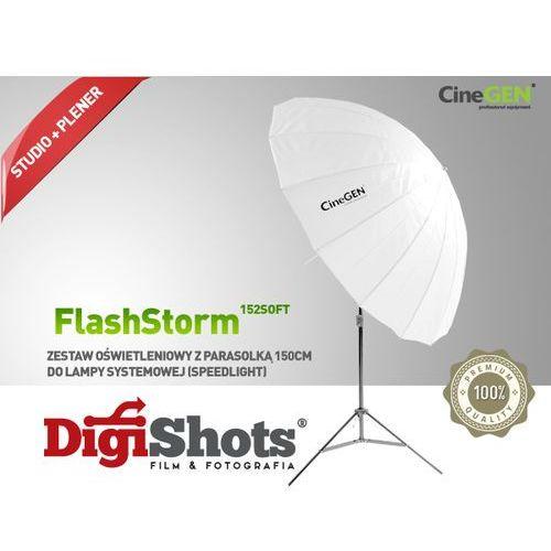 Zestaw oświetleniowy z parasolką softlight 152cm marki Cinegen