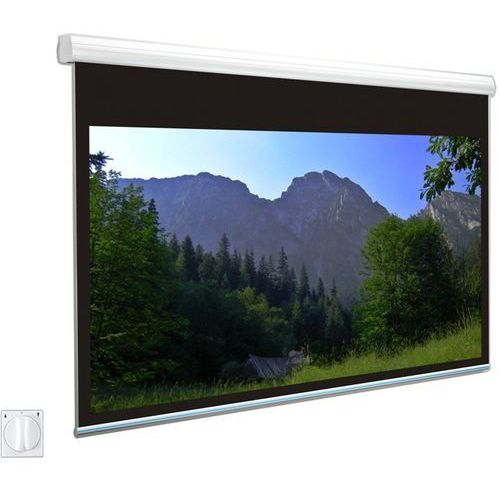 Ekran elektryczny 400x400cm solaris 40 - white ice marki Avers