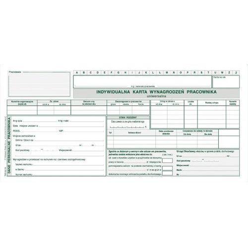 Indywidualna karta wynagrodzenia pracownika a6 - g1047 marki Michalczyk i prokop