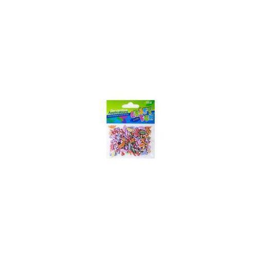 Ozdoba dekoracyjna. Plastikowe koraliki 25g (5901350243824)