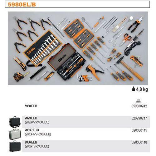 Beta Walizka narzędziowa 2036/tv z zestawem 98 narzędzi dla elektrotechników, model 2036el/b