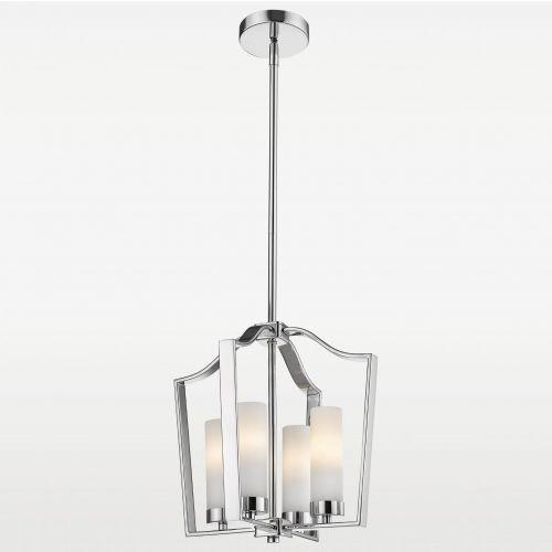 LAMPA wisząca EVO P04131CH metalowa OPRAWA klatka ZWIS szklane tuby chrom białe, EVO P04131CH