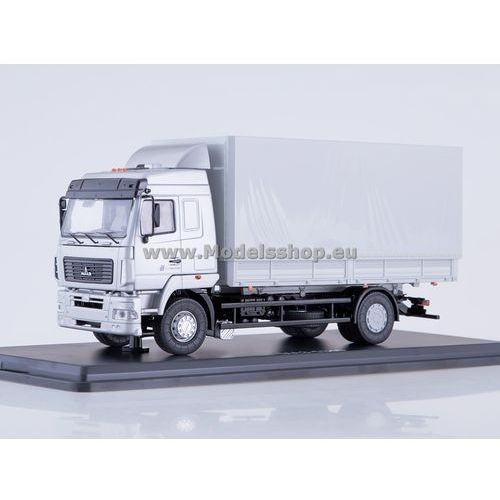 Ssm Maz-5340 flatbed truck with tent (facelift) (grey)