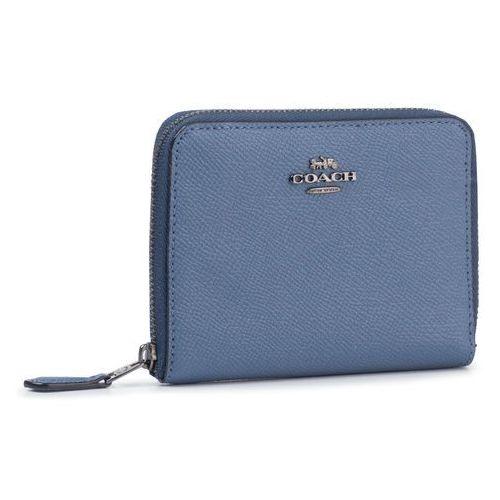 Mały portfel damski - crsgn zp arnd wall 29677 gmpe4 stone blue marki Coach