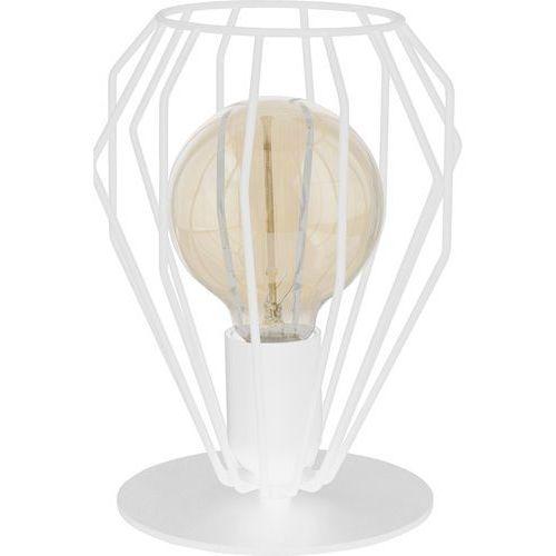 Lampa druciana stołowa lampka loft TK Lighting Brylant 1x60W E27 biała 3030, 3030